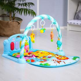 Развивающий коврик «Малыши», с пианино, голубой