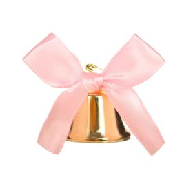 Bell with pink bow, d = 3.6 cm