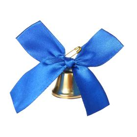 Bell with a blue bow, d = 3.6 cm