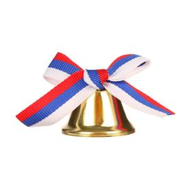 Bell with tricolor - bow, d = 3.6 cm