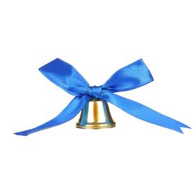 Bell with a blue bow, d = 2.6 cm