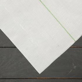 Агроткань застилочная, с разметкой, 5 × 2,1 м, плотность 100 г/м², полипропилен, белая, колышки - 10 шт., Nacsan