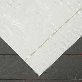 Агроткань застилочная, с разметкой, 5 × 3,15 м, плотность 100 г/м², полипропилен, белая, колышки - 10 шт., Nacsan