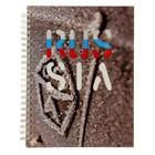 Тетрадь 100 листов клетка на гребне RUS