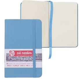 Блокнот для рисунков А6, 140 г/м², Royal Talens 90 х 140, 80 листов, твёрдая обложка, синяя