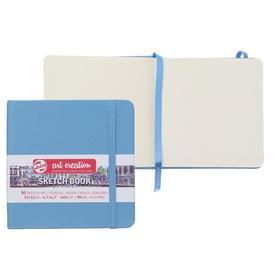 Блокнот для рисунков квадратный 120 х 120, 140 г/м² Royal Talens, 80 листов Art Creation, твёрдая обложка, синяя