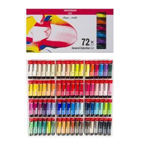 "Краска акриловая в тубе, набор 72 цветов х 20 мл, Royal Talens Amsterdam ""Стандарт"""