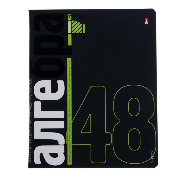 """Тетрадь предметная Elements, 48 листов в клетку """"Алгебра"""", обложка мелованный картон, матовая ламинация, блок офсет - фото 1248989"""
