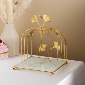 {{photo.Alt || photo.Description || 'Подставка под десерты «Мрамор», 20×20×25 см, цвет белый'}}