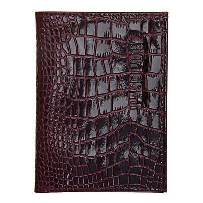 Обложка для паспорта, отдел для купюр, цвет бордовый