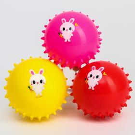 Развивающий массажный мячик «Зайчик», цвет МИКС