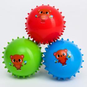 Развивающий массажный мячик «Веселые малыши», мягкие, цвета МИКС, d= 8 см