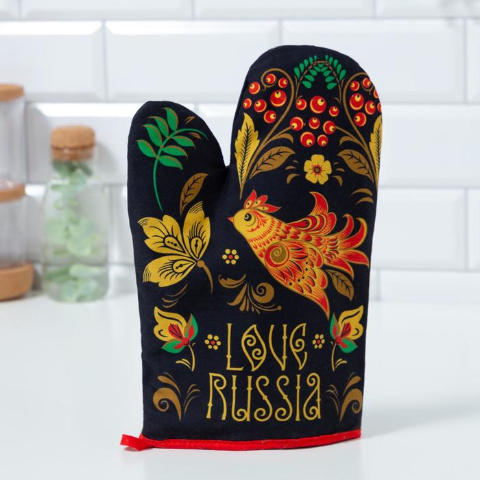 "Варежка-прихватка ""Этель"" Russian style 20х27см,100% х/л, ватин 250г/м2 - фото 726958"
