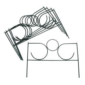 Ограждение декоративное, 55 × 340 см, 5 секций, металл, зелёное, «Сияние»