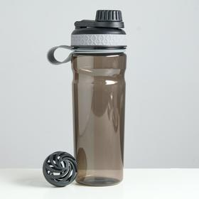 Шейкер для воды 800 мл 7.7х23.5 см, с шариком