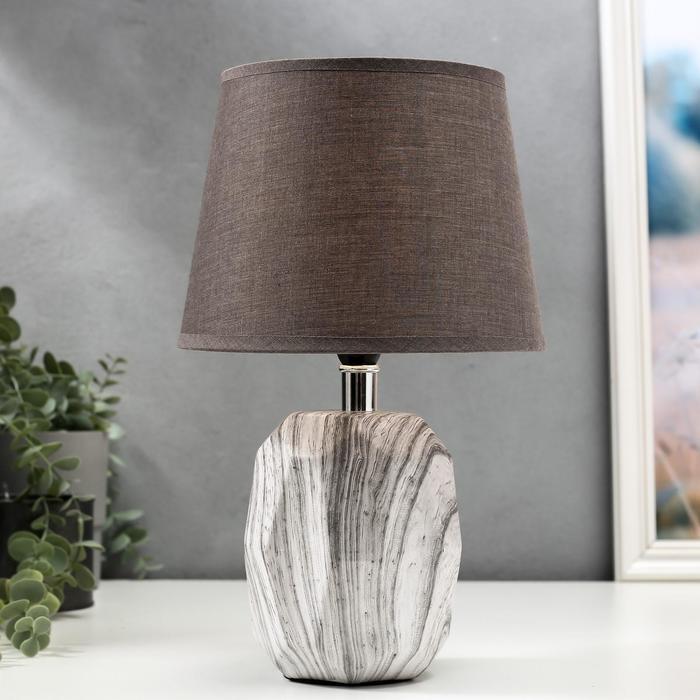 Лампа настольная 16407/1 E14 40Вт серый 20х20х32,5 см - фото 580918