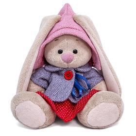 Мягкая игрушка «Зайка Ми в твидовом костюме с юбочкой», 15 см