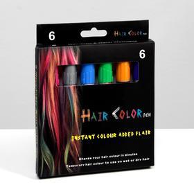 Набор мелков-карандашей для волос, 6 шт.