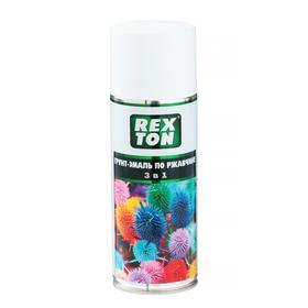 Грунт-эмаль REXTON по ржавчине 3 в 1, белый, аэрозоль 520 мл RT-150.10