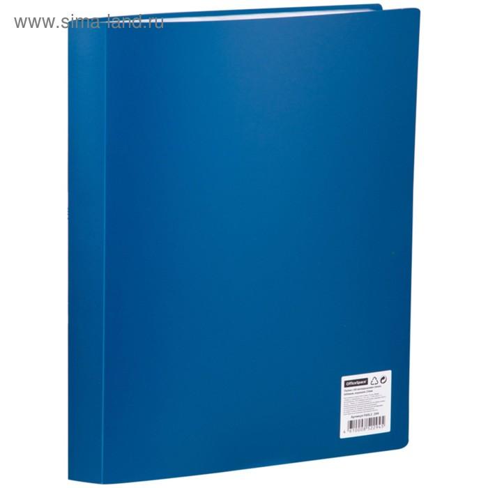 Папка с 60 прозрачными вкладышами А4, 600мкм, синяя