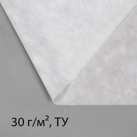 Материал укрывной, 20 × 3,2 м, плотность 30, с УФ-стабилизатором, белый, Greengo, Эконом 20%
