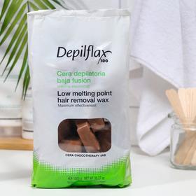 Воск для депиляции Depilflax100, шоколад, 1000 г