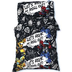 """Постельное белье 1,5 сп """"Let's rock"""" Transformers 143*215 см, 150*214 см, 50*70 см -1 шт"""