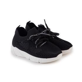Кроссовки детские, цвет чёрный, размер 27