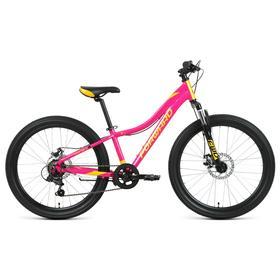"""Велосипед 24"""" Forward Jade 2.0 disc, цвет розовый/золотой, размер 12"""""""