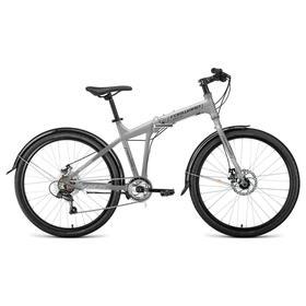 """Велосипед 26"""" Forward Tracer 2.0 disc, цвет серый/синий, размер 19"""""""
