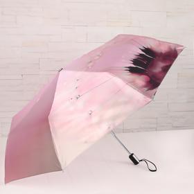 Зонт автоматический, облегчённый, «Одуванчик», 3 сложения, 8 спиц, R = 51 см, цвет розовый
