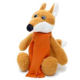 Мягкая игрушка «Лисичка Вупи в кирпичном шарфе», 20 см