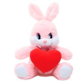 Мягкая игрушка «Заяц Лорик с красным сердцем», 40 см