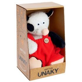 Мягкая игрушка «Котик Барсик в красном комбинезоне», 20 см