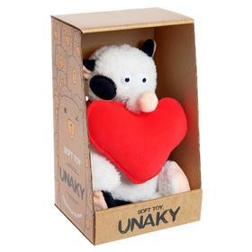 Мягкая игрушка «Котик Барсик с красным сердцем», 20 см