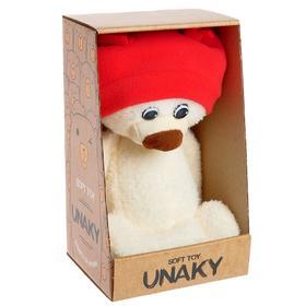 Мягкая игрушка «Медвежонок Ермак в шапке», цвет молочный, 21 см