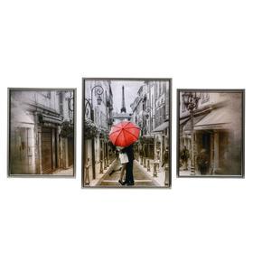 """Картина модульная """"Любовь в Париже"""" 30*40 - 2 шт., 40*50 -1 шт., 50х100 см"""
