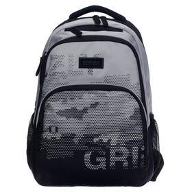 Рюкзак молодежный, Grizzly RU-130, 45x32x23 см, эргономичная спинка, отделение для ноутбука, серый