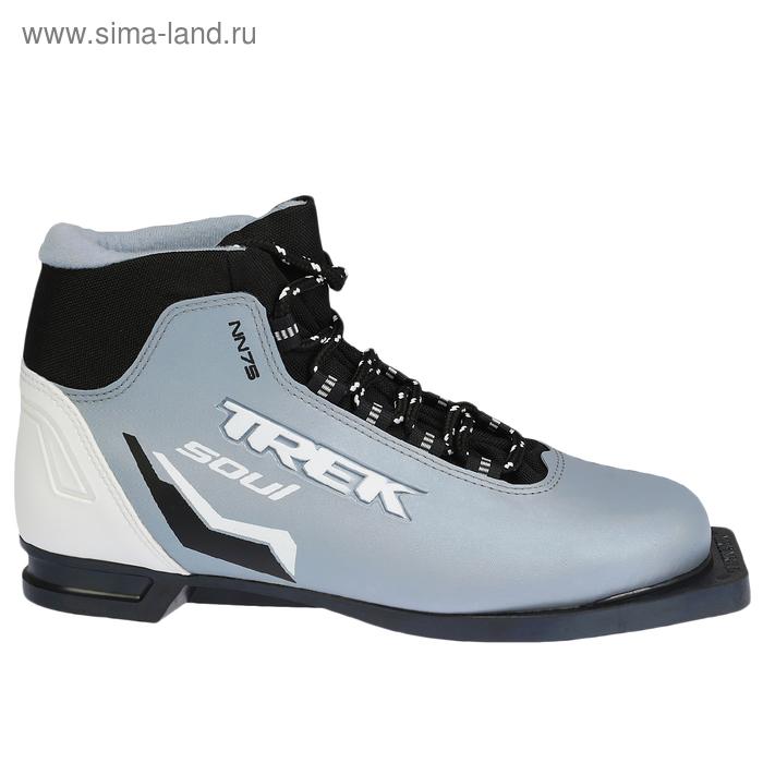 Ботинки лыжные TREK Soul NN 75 ИК (серый металл NN 75 ИК, лого черный) (р. 44)