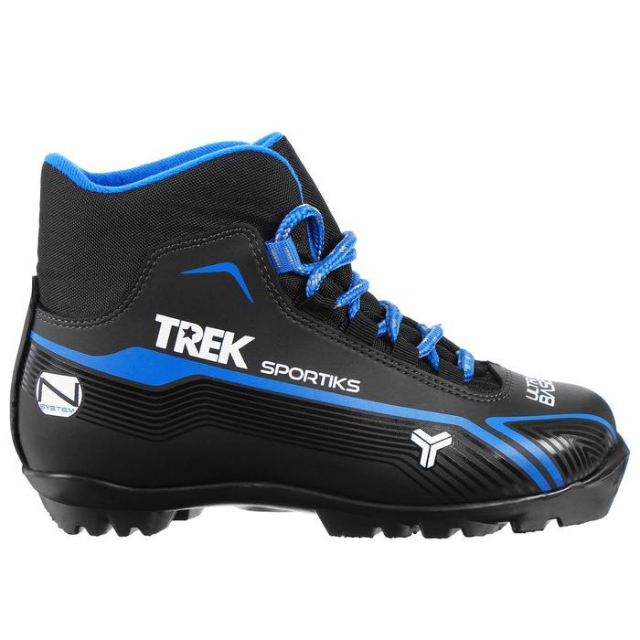 Ботинки лыжные TREK Sportiks NNN ИК, цвет чёрный, лого синий, размер 45 - фото 1573452