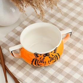 "{{photo.Alt || photo.Description || 'Бульонница ""Тигр"", оранжевая, монохром, 0.5 л, микс'}}"