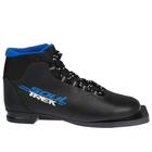 Ботинки лыжные ТРЕК Soul НК NN75, чёрный, лого синий, размер 39