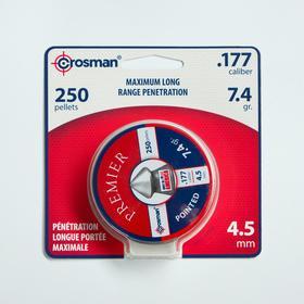 """Пули для пневматики Crosman """"Pointed"""" кал. 4,5мм, 0,48гр, 250шт"""