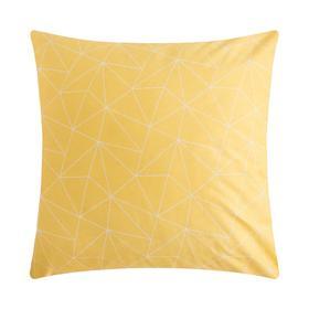 """Наволочка LoveLife """"Геометрия"""", желтый, 70*70 см, 100 % хлопок, сатин"""