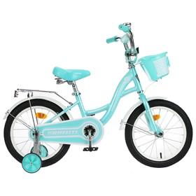 """Велосипед 14"""" Graffiti Premium Girl, цвет мятный/белый"""