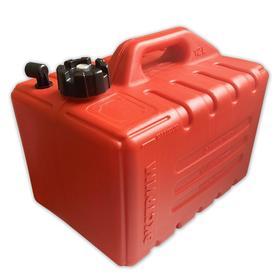Топливный бак для лодок с фитингом, 12л, красный