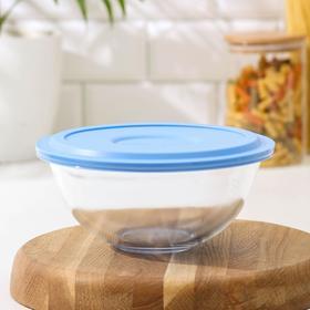 Миска жаропрочная Marinex, 1,5 л, d=20,7 см, с пластиковой крышкой BPA Free, цвет МИКС