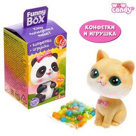 """WOW CANDY Funny box с конфетами """"Зверята"""" МИКС"""