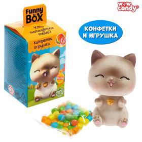 """WOW CANDY Funny box с конфетами """"Котики"""" МИКС"""
