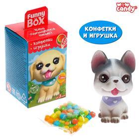 """WOW CANDY Funny box с конфетами """"Щеночки"""" МИКС"""